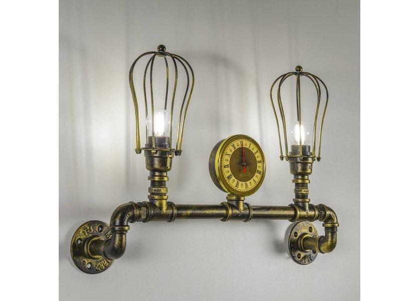 Industriële Tweelichts Wandlamp Waterleiding - Funnylights Kakuna