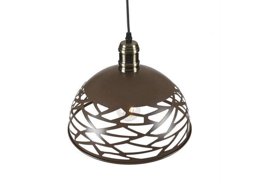 Moderne Opengewerkte Hanglamp Bruin – Scaldare Luonto