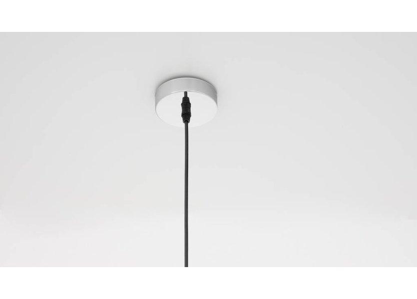 Moderne chrome hanglamp