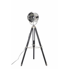 Scaldare Staande Lamp Industrieel Zwart met Chrome - Scaldare Emilia