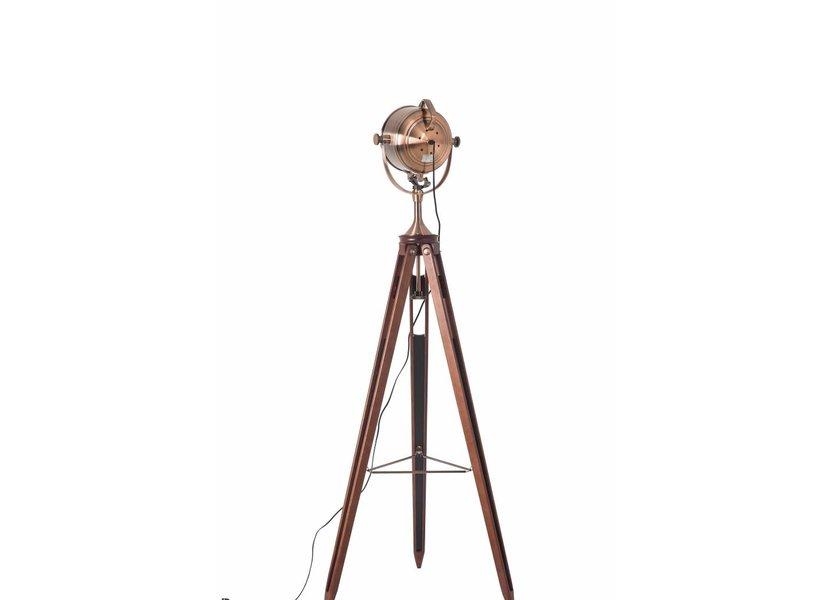 Staande Driepoot Lamp Industrieel Koper  - Scaldare Fanano