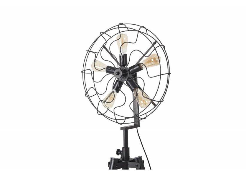 Staande Driepoot Lamp Industrieel Zwart  - Scaldare Umbra