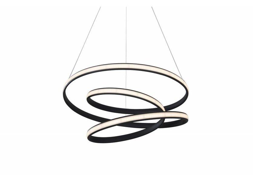 Hanglamp LED Design Zwart Rond - Scaldare Irsina
