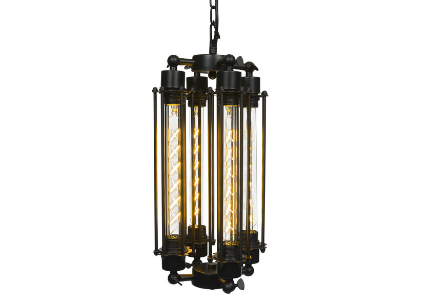 Industriële Hanglamp Vier Buizen – Scaldare Asciano