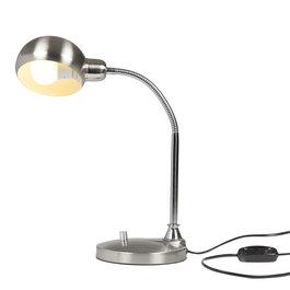 Crius Moderne zilverkleurige tafellamp