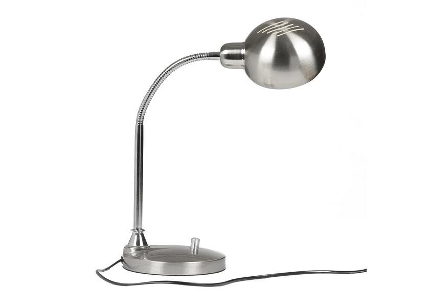Moderne Zilverkleurige Tafellamp – Valott Dock