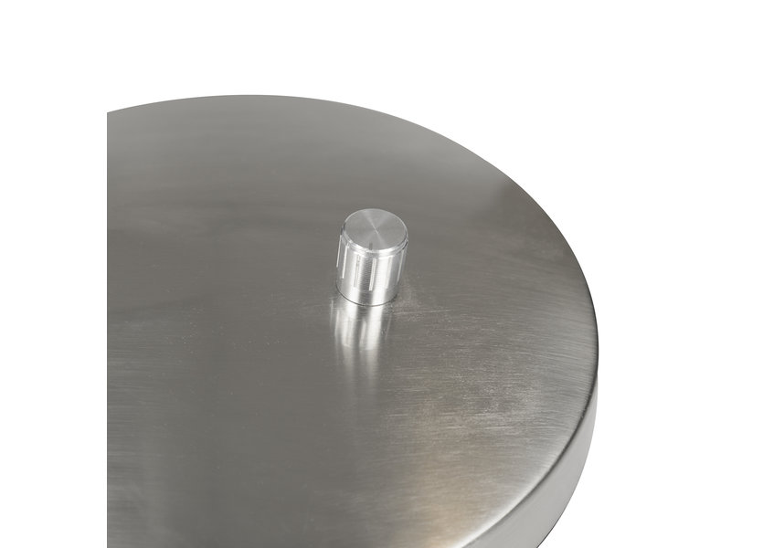 Moderne zilverkleurige tafellamp