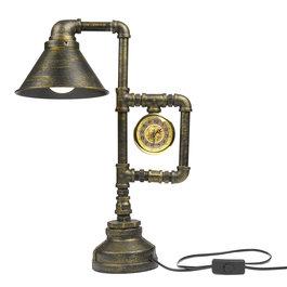 Crius Industriële bronskleurige tafellamp