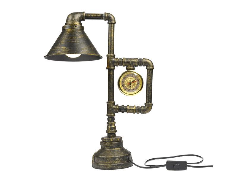 Industriële bronskleurige tafellamp