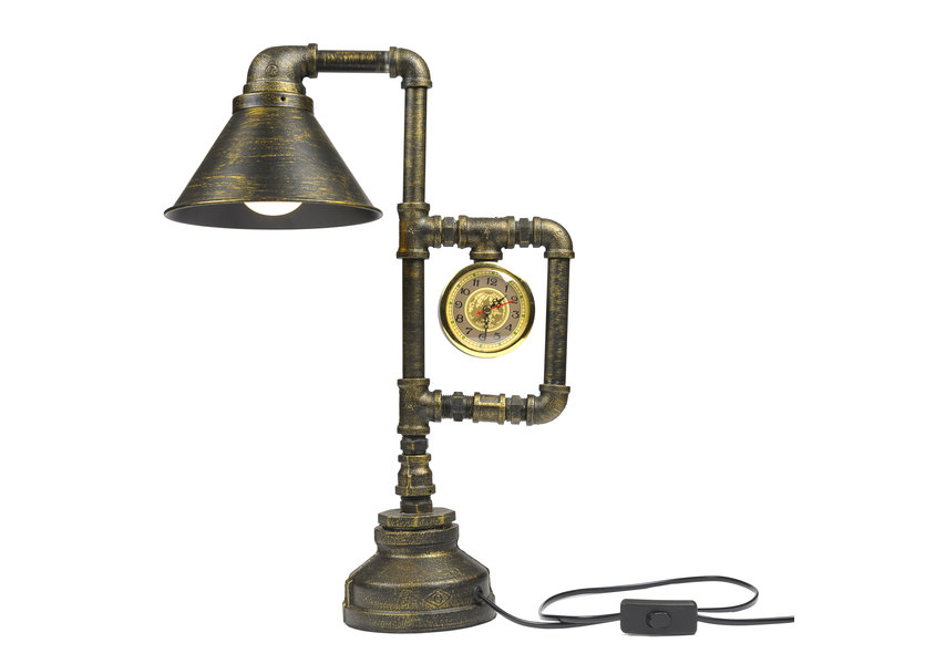 Industriële Bronskleurige Tafellamp – Valott Alocasie