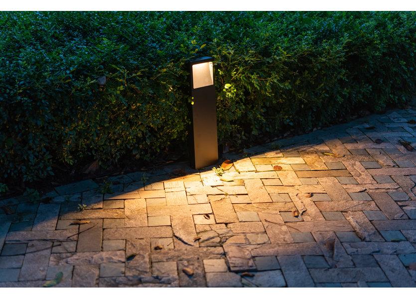Design Sokkellamp Buiten LED Zwart 60 cm - Gardenleds Beleno Staande buitenlamp