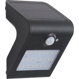 Solar-Lights Wandlamp Solar LED Zwart Wit Licht - Solar-Lights Nickel