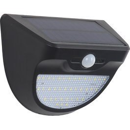 Solar-Lights Wandlamp Solar LED Zwart Wit Licht - Solar-Lights Niobium