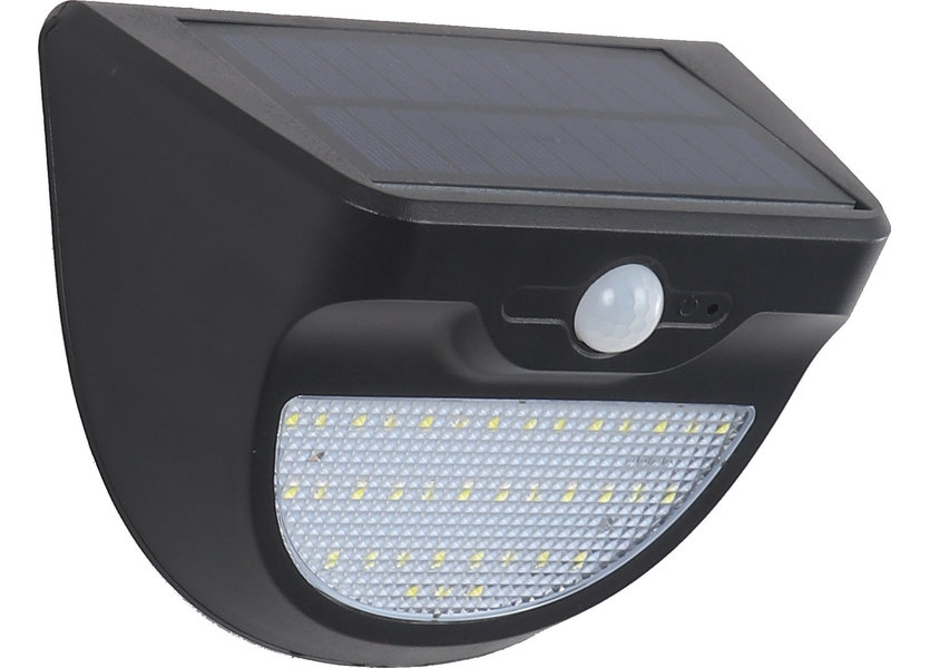 Wandlamp Solar LED Zwart Wit Licht - Solar-Lights Niobium