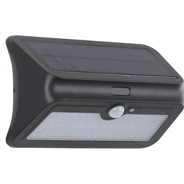 Solar-Lights Wandlamp Solar LED Zwart Wit Licht - Solar-Lights Osmium
