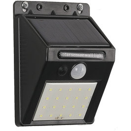 Solar-Lights Wandlamp Solar LED Zwart Daglicht - Solar-Lights Polonium