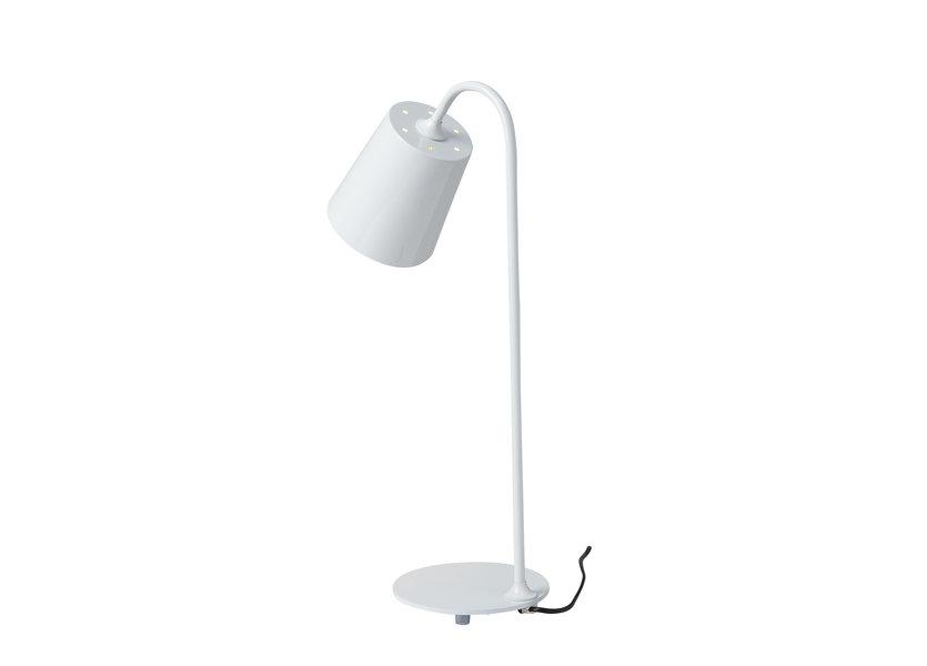 Tafellamp Design Wit met Metalen Kap - Scaldare Broni