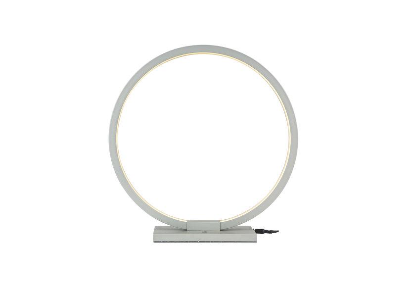 Tafellamp LED Design Zilver Rond - Scaldare Baiso