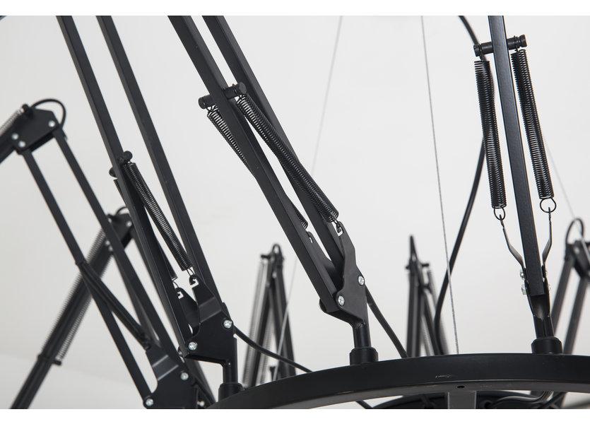 Plafondlamp Design Zwart 12 Lichtpunten - Scaldare Doues