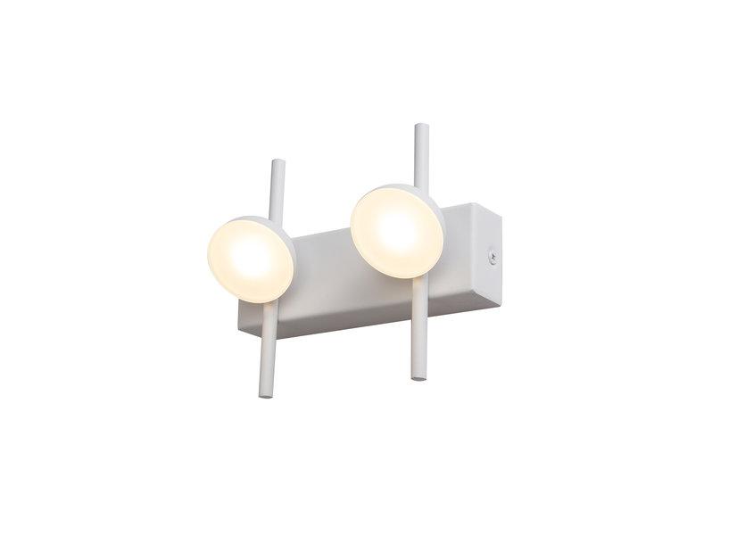 Wandlamp LED Modern Wit Rond 2 Lichtpunten- Scaldare Fagagna