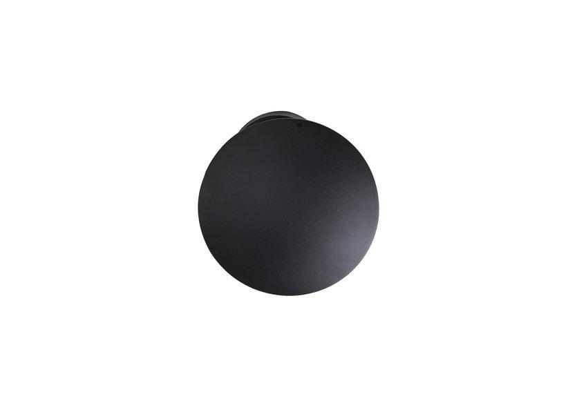 Wandlamp LED Modern Zwart Rond - Scaldare Galatina