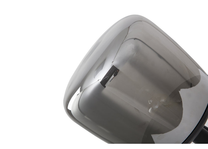 Tafelamp Design Grijs Rond Glas - Scaldare Leno