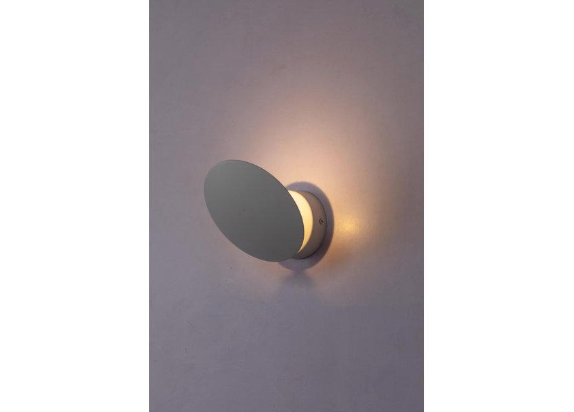 Wandlamp LED Modern Wit Rond 2 - Scaldare Galatina