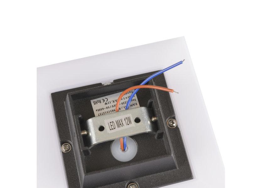 Moderne Buitenwandlamp Zwart IP65 incl. LED - Garleds Bamboe