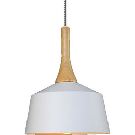 Valott Hanglamp Modern Wit Rond Aluminium en Hout - Valott Sirkka