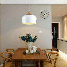 Valott Hanglamp Modern Wit Rond Aluminium en Hout - Valott Jari