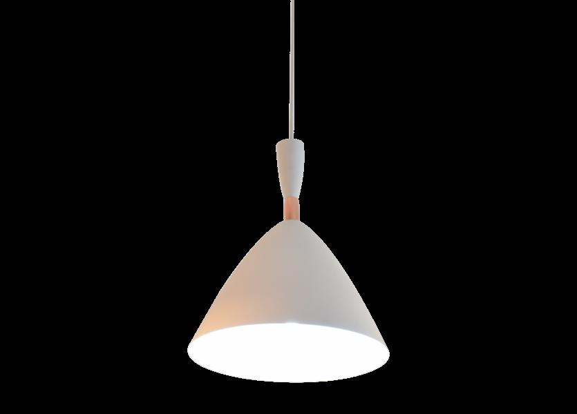 Hanglamp Wit Aluminium met hout - Valott Aila