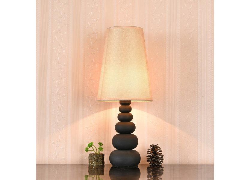 Tafellamp Modern Bruine Kap 52 cm - Valott Sinappi