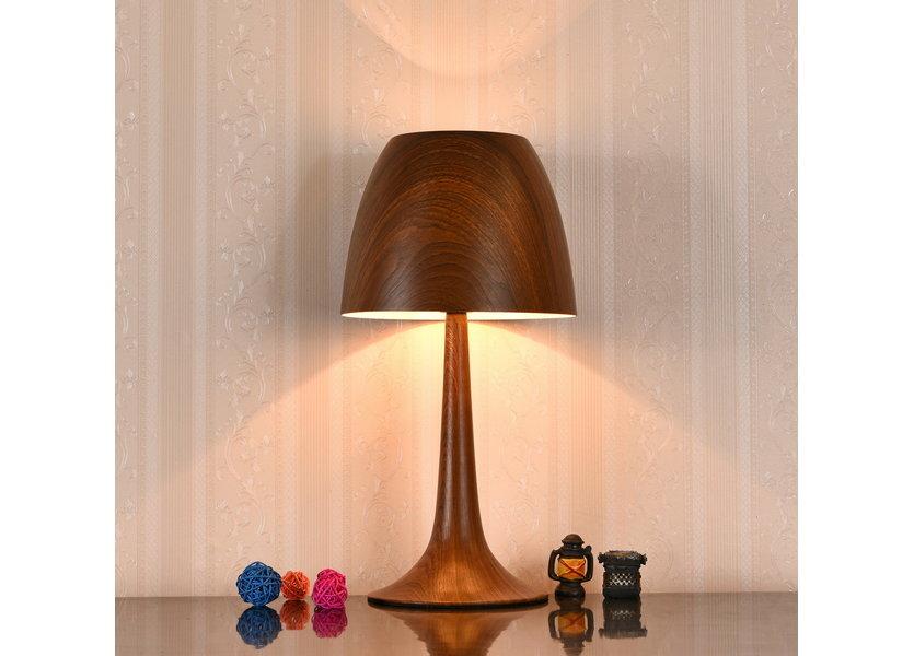 Tafellamp Modern Bruin 42 cm - Valott Artisokka