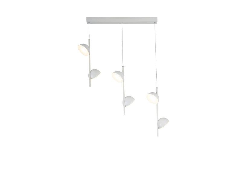 Hanglamp LED Modern Wit Rond 6 Lichtpunten - Scaldare Galbiate