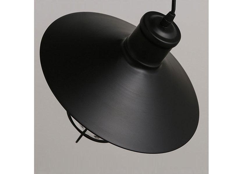 Hanglamp Industrieel Zwart Aluminium  - Valott Thymo