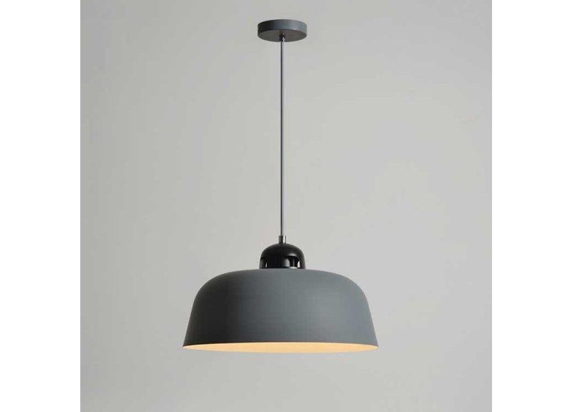 Hanglamp Modern Grijs Rond Aluminium - Valott Jaana