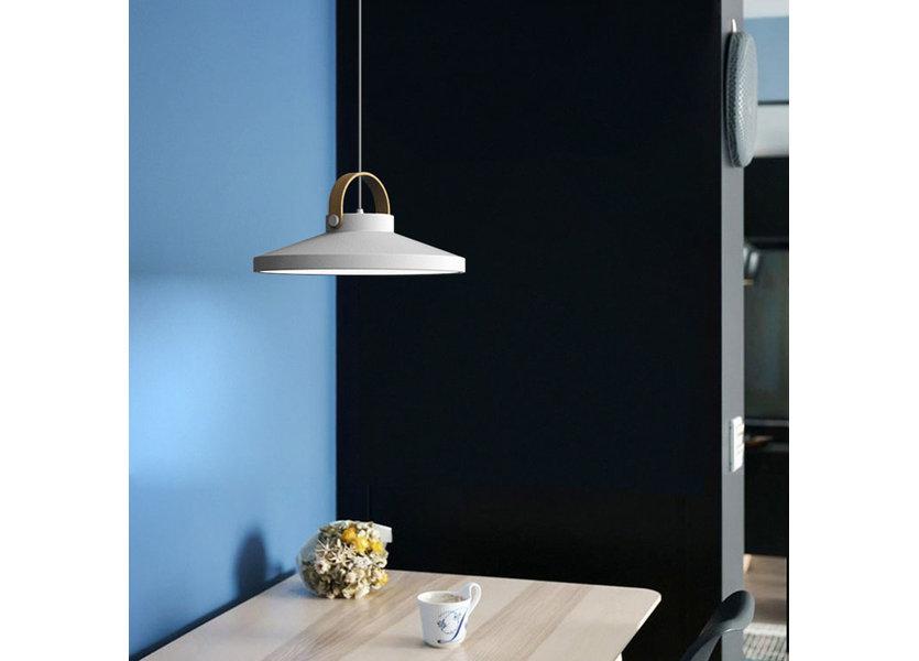 Hanglamp LED Modern Wit Rond Groot 37 cm - Scaldare Grado
