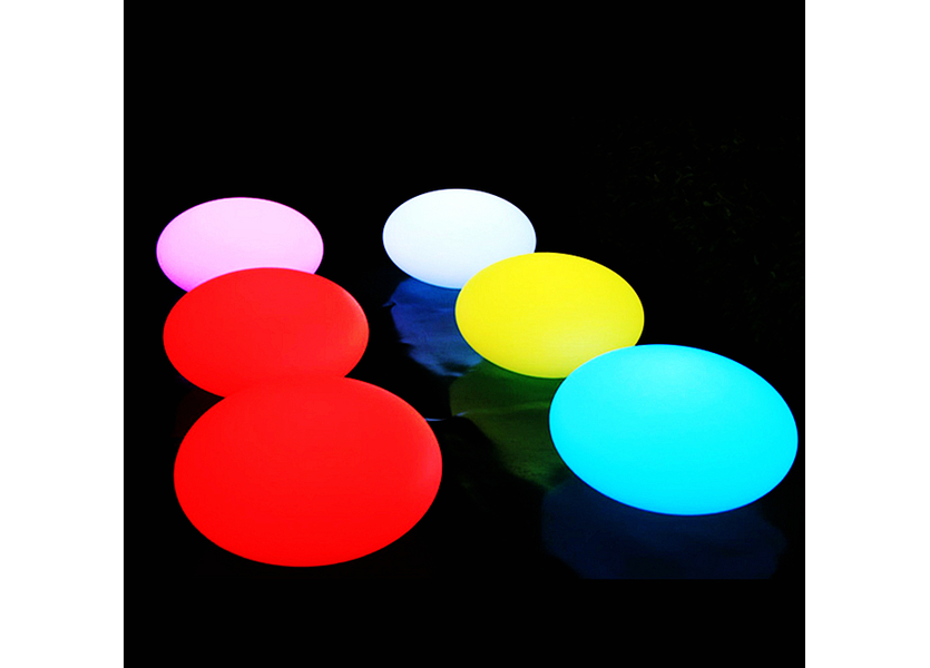 Oplaadbare Steen 35 cm  LED RGB incl. Afstandsbediening - Funnylights Geodude Tuinlamp