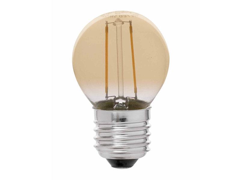 Crius LED Filament G45 E27 2W 827 Amber Dimbaar