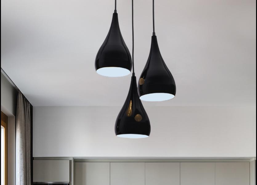 Hanglamp Modern Zwart Kegel Aluminium  - Valott Matias