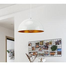 Scaldare Hanglamp Wit met Gouden Binnenkant 60 cm - Scaldare Lucano
