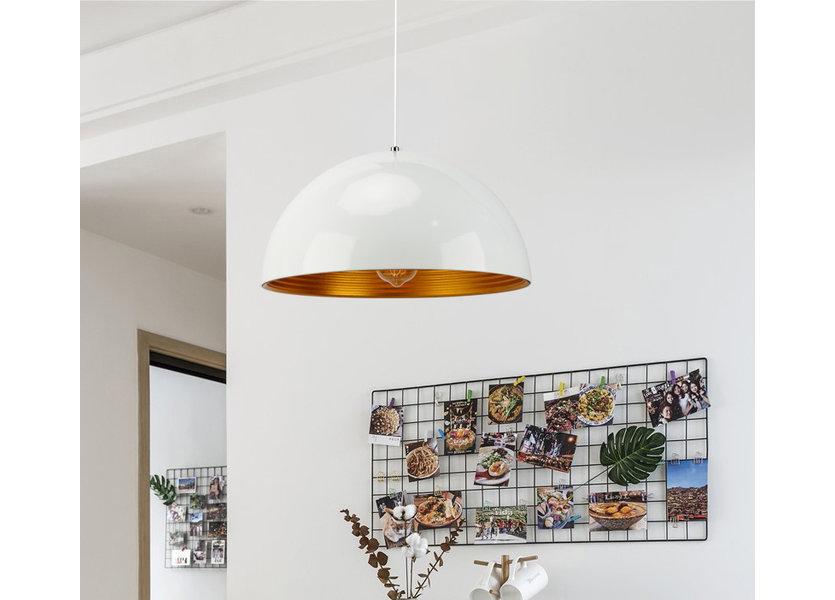 Hanglamp Wit met Gouden Binnenkant 60 cm - Scaldare Lucano