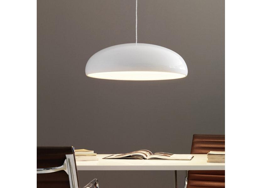 Hanglamp Modern Wit Rond Aluminium - Scaldare Pacengo