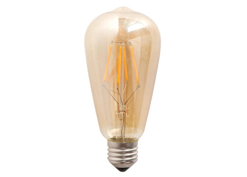 Crius LED Filament ST64 E27 6W 827 Amber Dimbaar