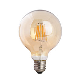 Crius Crius LED Filament G95 E27 8W 827 Amber Dimbaar