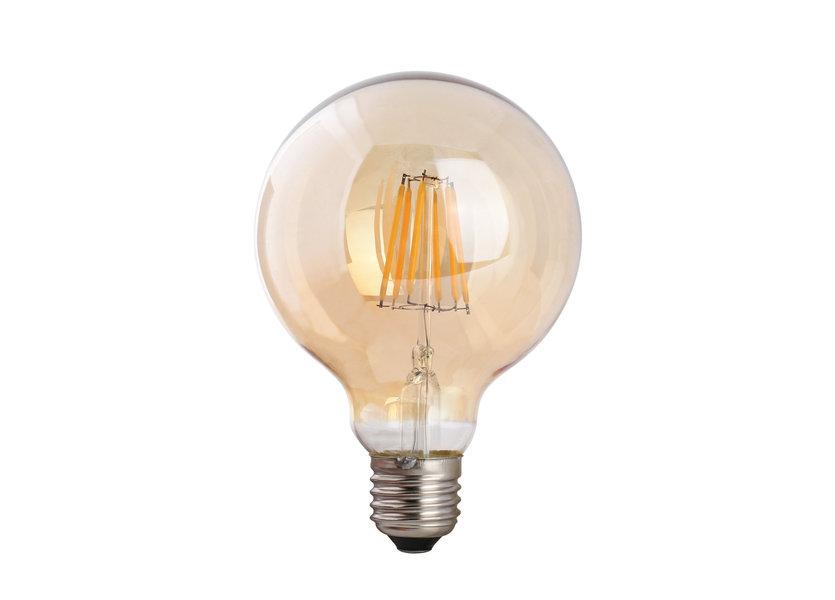 Crius LED G95 Filament E27 8W 827 Amber Dimbaar