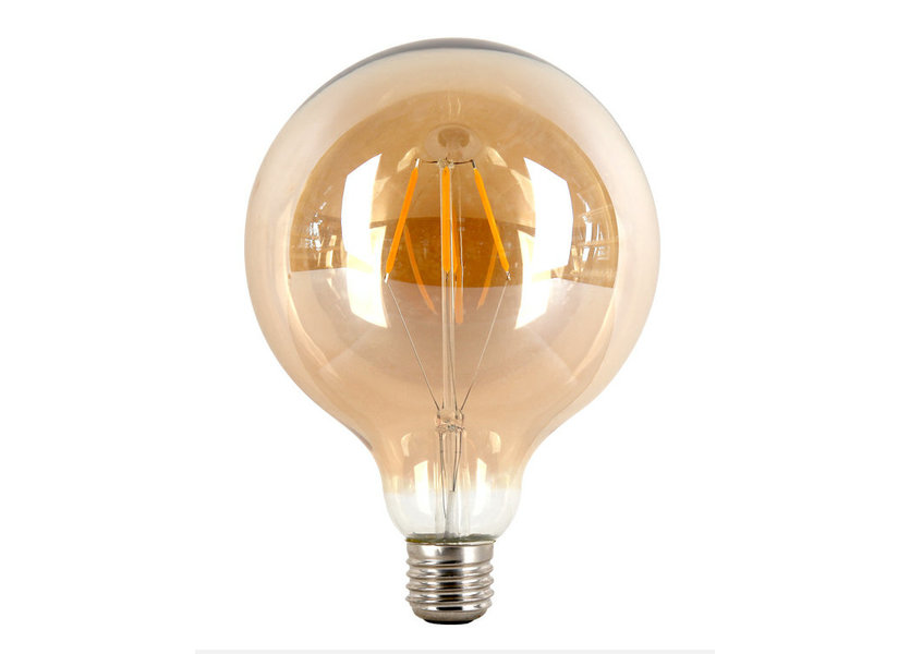 Crius LED Filament G125 E27 4W 827 Amber Dimbaar