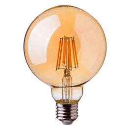 Crius Crius LED Filament G125 E27 8W 827 Amber Dimbaar