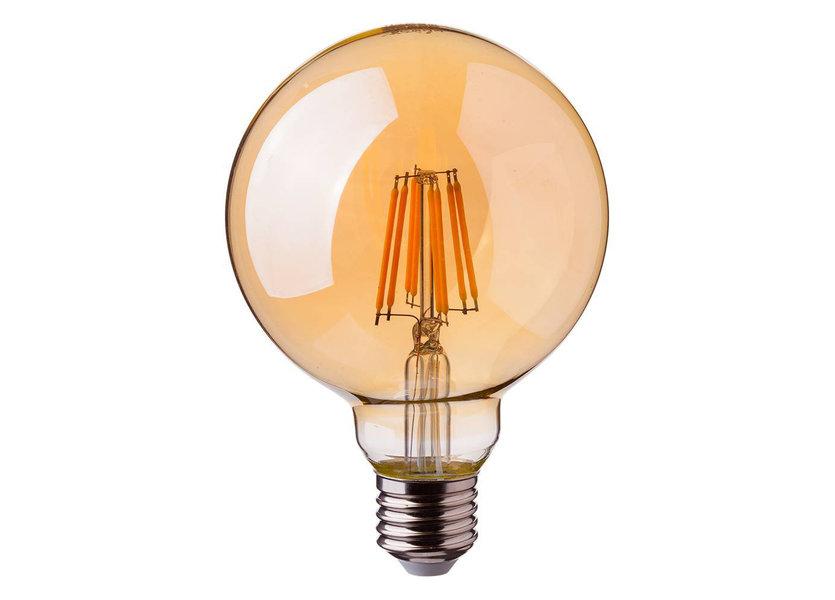 Crius LED G125 E27 8W 827 Amber Dimbaar