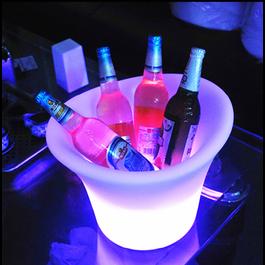 Funnylights LED Wijnkoeler / IJsemmer RGB Oplaadbaar + Afstandsbediening - Funnylights Hypo